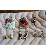 Vintage Christmas lot of 6 - Brooches & Earrings - $6.00