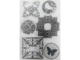 Floral and Flourishes Clear Stamp Set