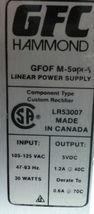 GFC HAMMOND GFOF M-5 LINEAR POWER SUPPLY image 3