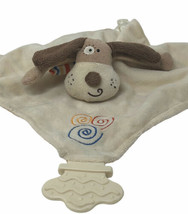 Stephan Baby Puppy Dog Security Blanket Lovey Plush Baby Teether Rattle ... - $12.00