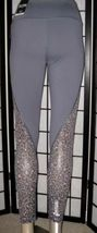 Victoria's Secret Sport Knockout Tight Gray Leopard Mesh Cut Out Leggings XL image 3
