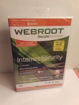 Webroot Secure Anywhere Internet Security 3 Devices (PC/Mac, 2015) New - $12.86