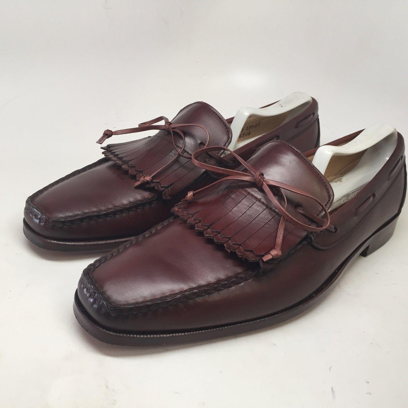Allen Edmonds USA Alton Tan Brown Leather Loafer Kiltie Slip On Shoes Mens 8.5 D