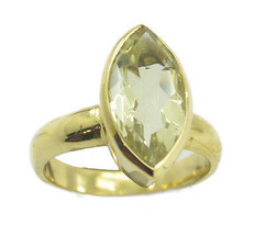 likely Green Amethyst Gold Plated Green Ring indian US 6,7,8,9 - $9.99