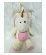 "11"" Kelly Baby Unicorn Lovey & Rattle Clip On Pink Cream Corduroy Kellyt... - $19.99"
