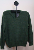 Nautica Moss Heather Green Men's Knit Pullover V-Neck Sweater Size XL - $49.95