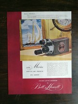 Vintage 1948 Bell & Howell Filmo Auto Master Full Page Original Ad - $6.64