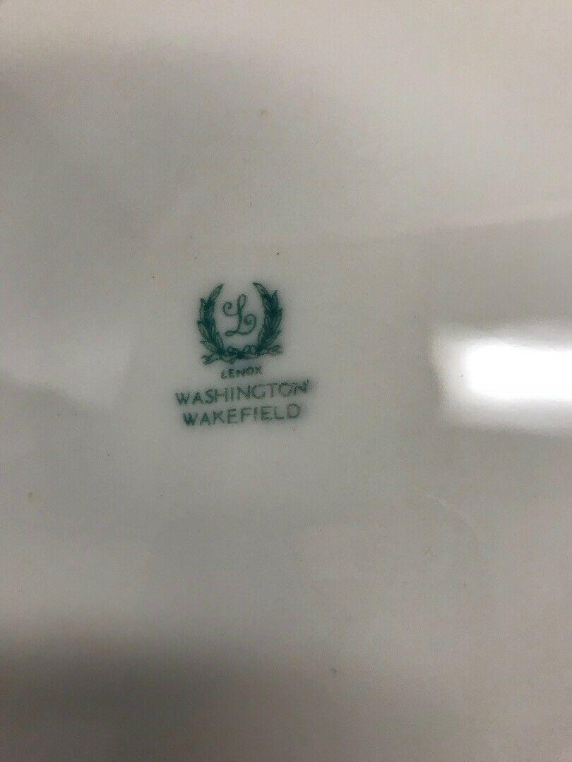 6 pc.WASHINGTON WAKEFIELD  Lenox Dish VINTAGE mid century Dinner plate weave