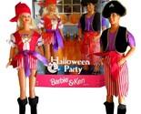 Barbie and Ken 1998 Mattel Halloween Party Pirate Dolls Gift Set