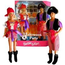 Barbie and Ken 1998 Mattel Halloween Party Pirate Dolls Gift Set - $43.01