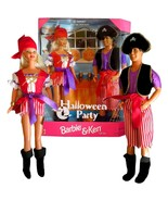 Barbie and Ken 1998 Mattel Halloween Party Pirate Dolls Gift Set - $43.01