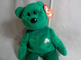 1997 Ty Beanie Baby Erin Irish Bear with Tags / Stamped Tush Tag - $2.54