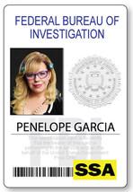 CRIMINAL MINDS PENELOPE GARCIA NAME BADGE PROP HALLOWEEN COSPLAY PIN BACK - $12.46