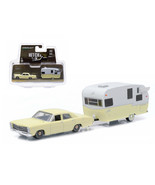 1967 Ford Custom Yellow and Shasta 15ft Airflyte 1/64 Diecast Model Car ... - $36.08