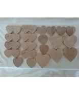 Vintage Wooden Hearts, 21 pc. Lot - Unfinished, bin#5 - $19.80