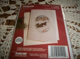 Janlynn Christmas Cross Stitch Kit 125-102~Sleigh Ride Greeting Card - $10.00