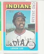 1975 Topps Large #506 Leron Lee Cleveland Indians EX-MINT + 192328 - $0.98