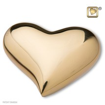 Heart Bright Gold Keepsake Heart Funeral Cremation Urn,  2.5 Cubic Inches - $58.50