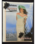 Vintage PATONS SUNSHINE CROCHET ENSOLEILLE  12 Patterns 1986 - $5.93
