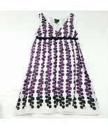 Max Edition Dress Size Small Purple Multi-Color Knee Length V-Neck Sleev... - $11.68