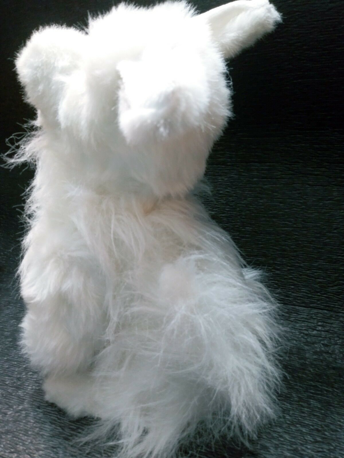 "Puppy Dog Realistic White Furry FurReal Friends 2004 Hasbro Toy 14""  toy"