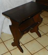 Walnut Bookshelf End Table / Side Table     - $299.00