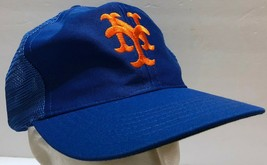 VTG New York Mets UII Blue Mesh Snapback Trucker Hat NY MLB Baseball Piazza - $54.69