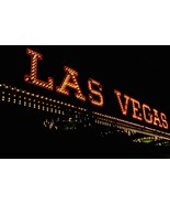 Las Vegas Nevada Vintage Neon Sign Board Illuminated Photo Photograph Fr... - $25.86