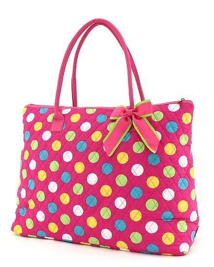 Primary image for Belvah large polka dot print large tote bag LPDQ1105(FSMT) handbag purse