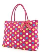 Belvah large polka dot print large tote bag LPDQ1105(FSMT) handbag purse - $23.99