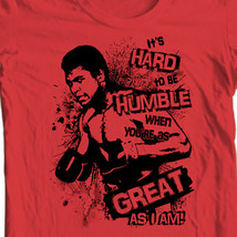 Muhammad Ali T-shirt Hard to be Humble boxing print graphic cotton tee ALI121 image 2