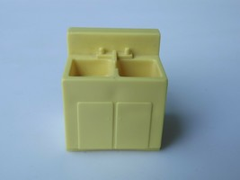 Vintage Fisher Price Little People Yellow Sink Oven #729 909 929 - $5.00