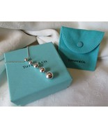 """Tiffany & Co. Sterling Silver Graduated Bead Ball 2"""" Drop Necklace~16"""" C... - $195.00"""