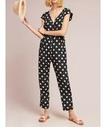 Anthropologie Corey Lynn Calter Wrapped Jumpsuit Polka Dot $188 Sz M - NWT - $129.99