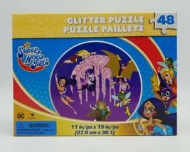 DC Super Hero Girls Glitter Puzzle 48 pcs 11x15 New Sealed Wonder Woman Batgirl - $14.73