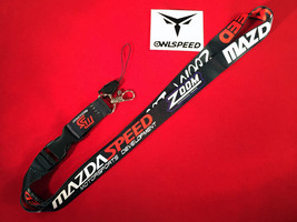 Mazdaspeed Lanyard Zoom Racing Motorsports JDM ID Keychain RX-8 MX-5 Mia... - $6.99