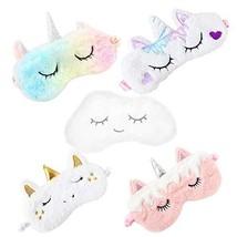 5 Pcs Soft Plush Sleeping Mask - Cute Animal Eye Cover Sleep Masks Blind... - $17.23