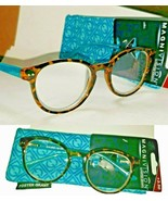 2 Pair +3.50 Magnivision Foster Grant Bryn Womans Tortoise Teal Reading ... - $20.57