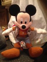 "Disneyland Resort Frontierland Rodeo Cowboy Mickey Mouse 11"" Stuffed Plush Rare - $17.99"