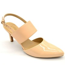 Naturalizer Womens Eleana Shoe Size 7.5M Soft Nude Sling Back Pointed Toe NEW - $39.59