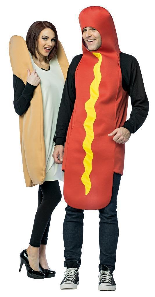 Hot Dog Bun Couples Costume Food Sweet Halloween Party Unique Cheap GC7295