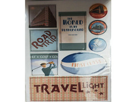 """DCWV """"Travel"""" Chipboard Sticker Stack, 75 Pieces #QS-01 2-00006 image 2"""
