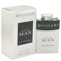 Bvlgari Man Extreme by Bvlgari Eau De Toilette Spray 2 oz - $34.95
