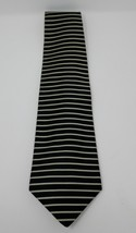 Brooks Brothers Black White Stripes 100% Silk Men's Neck Tie - $14.84