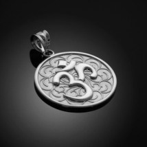 Sterling Silver Om (Ohm) Medallion Pendant Necklace - €22,53 EUR+