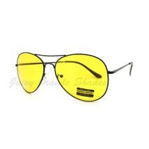 Yellow Lens Foggy Weather Round Aviator Sunglasses UV 400 - $7.15