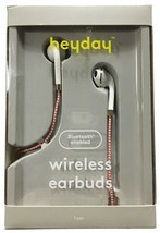 heyday Wireless Coral White Braided Bluetooth Enabled Earbuds Phone Headset NEW image 1
