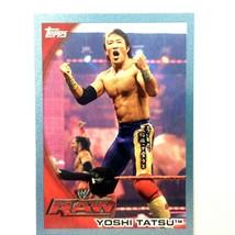 WWE Yoshi Tatsu 2010 Topps Card #7 Blue Serial Numbered Parallel RAW  - $1.93