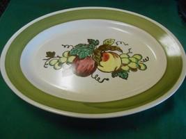 """Great POPPY TRAIL by Metlox """"Provincial Fruit"""" ...PLATTER 13.5"""" x 10"""" - $9.49"""