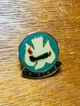 Vintage Small Blue Enamel with White Dove CATECHIST Hat Lapel Pin Tie Tac – 1 x  - $8.59